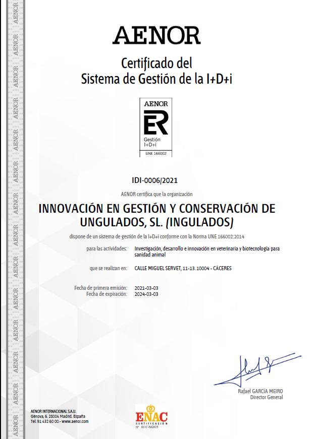 Innovación certificada